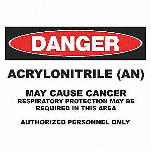 DANGER SIGN 10X14 ACRYLONITRILE PL