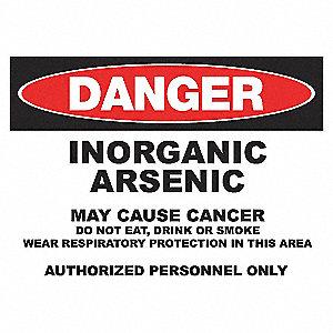 DANGER SIGN 10X14 ARSENIC ALUMINUM