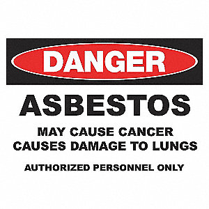 DANGER SIGN 10X14 ASBESTOS ALUMINUM