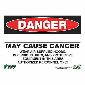 DANGER SIGN 10X14 BLANK CANCER AD