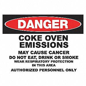 DANGER SIGN 10X14 COKE EMMISSION AL