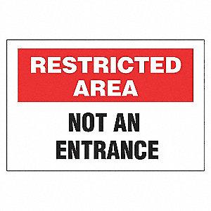 SECURITY SIGN NOT AN ENTRANCE AL