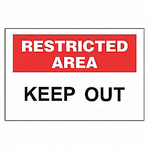 SECURITY SIGN KEEP OUT 10X14 AL