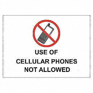 SECURITY SIGN NO CELL PHONES AL