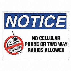 SECURITY SIGN NO 2-WAY RADIOS AL