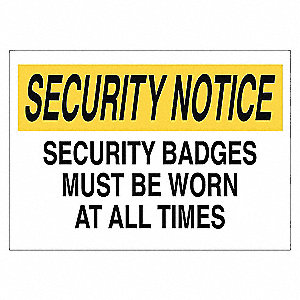SECURITY SIGN SECURITY BADGE AL