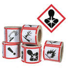HEALTH HAZARD(4INX4IN) 500/ROLL