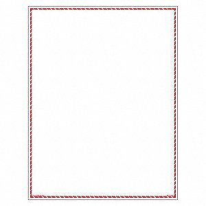 RED BORDER VINYL(8.5INX11IN)
