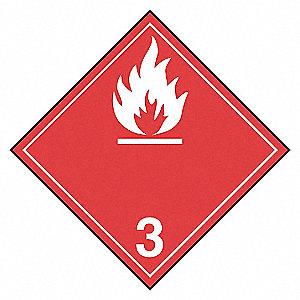 CLASS 3 TDG LABEL (VINYL)