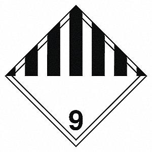 CLASS 9 TDG LABEL (VINYL)