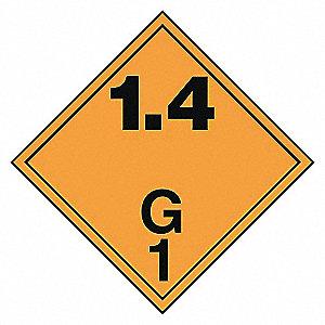 CLASS 1.4G PLACARD SS(12/PK)