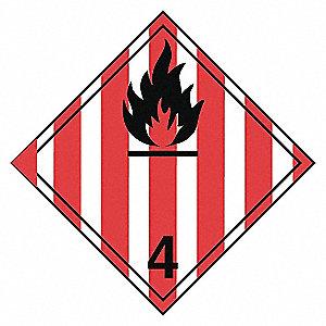 CLASS 4.1 PLACARD TB(12/PK)