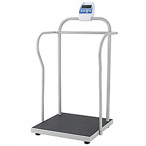 "Digital Physician Scale, 360kg/800 lb. Capacity, 24"" W x 24"" D"