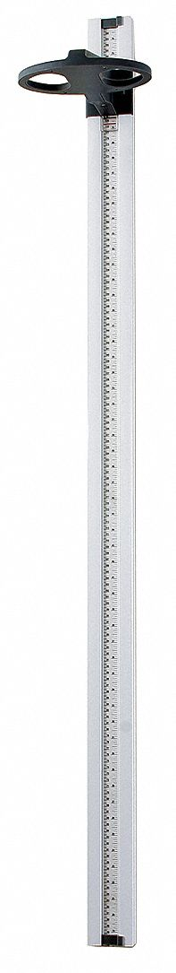 Mechanical Height Rod, White, Plastic