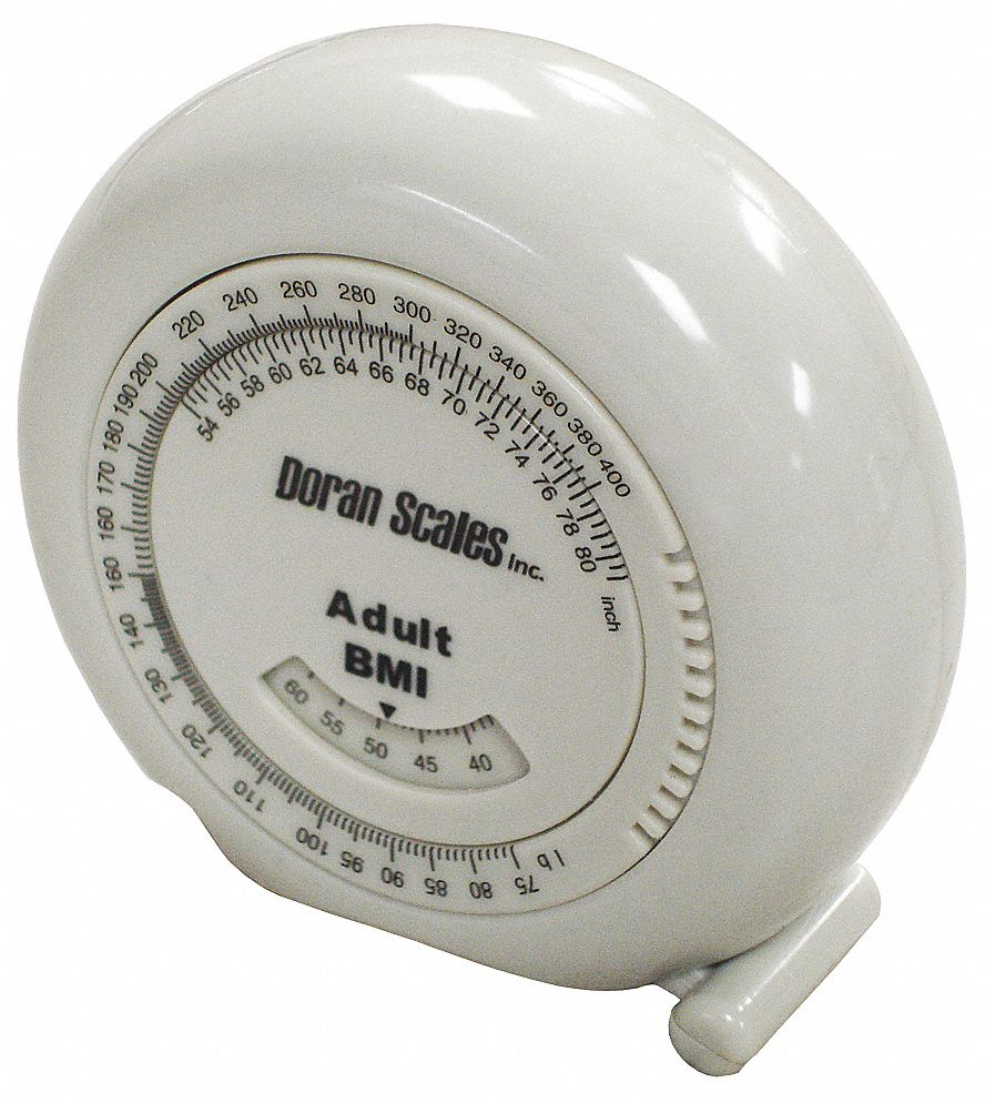 80 in PTFE SAE BMI Waist Tape Measure, White