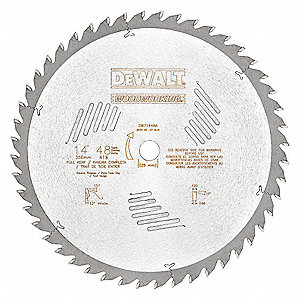 "14"" Carbide Combination Circular Saw Blade, Number of Teeth: 48"