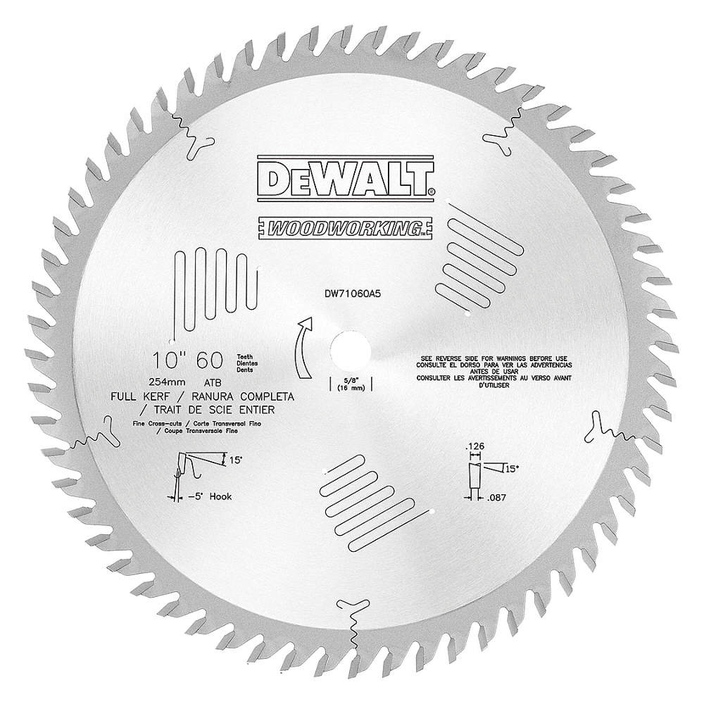 Dewalt circular saw bladecarbide10in60 teeth 20gw18dw71060a5 zoom outreset put photo at full zoom then double click keyboard keysfo