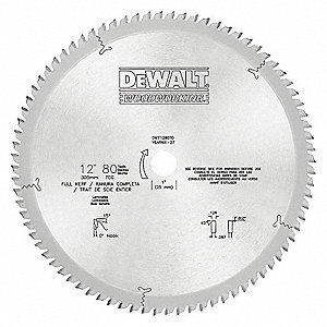 Circular Saw Blade,Carbide,12In,80 Teeth