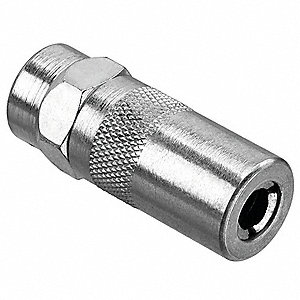 Grease Gun Coupler, 1/8in NPT, 10000 psi