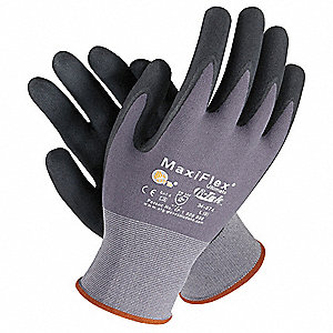 15 Gauge Foam Nitrile Coated Gloves, Glove Size: XS, Black/Gray