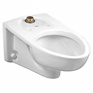 Toilet Bowl, Wall Mounting Style, Elongated, 1.1 to 1.6 Gallons per Flush
