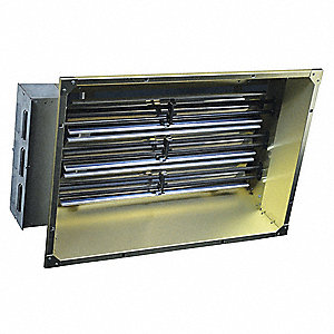 Electric Infrared Heater, Indoor, Ceiling/Suspended, Voltage 480, Watts 6000