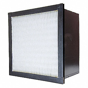 12x24x12, MERV 14, Fiberglass, Minipleat Air Filter Without Gasket