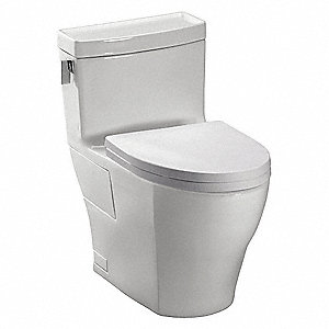 Aimes One Piece Tank Toilet, 1.28 Gallons per Flush, Colonial White