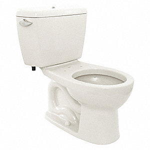 Eco Drake Two Piece Tank Toilet, 1.6 Gallons per Flush, Cotton