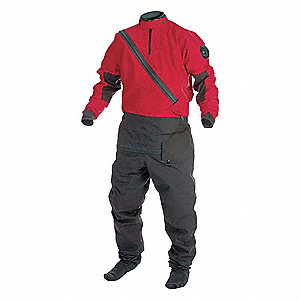 Dry Suit,XL,Red/Black,Nylon