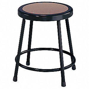 Round Stool and 300 lb. Weight Capacity, Black