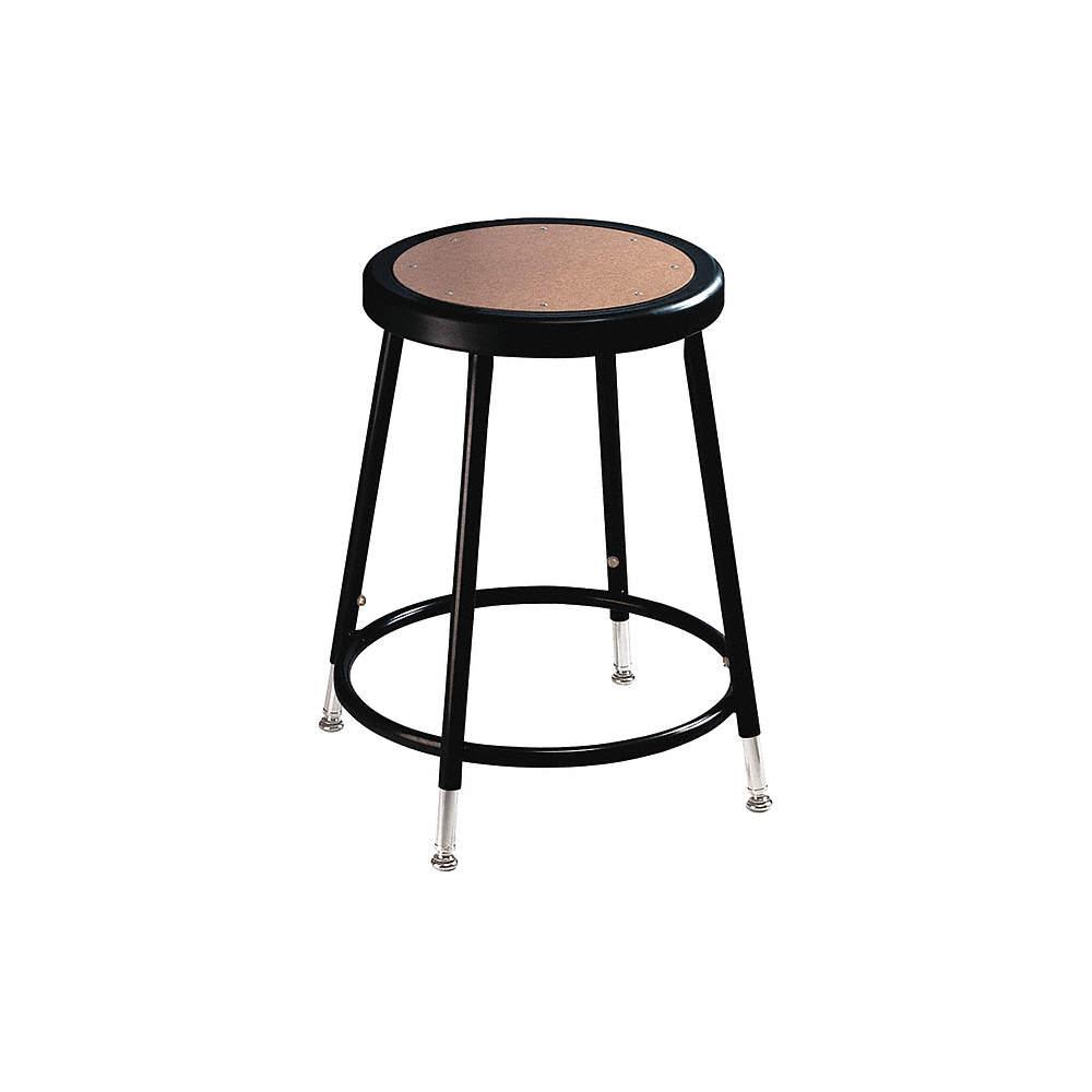 Groovy Round Stool With 19 To 27 Seat Height Range And 300 Lb Weight Capacity Black Inzonedesignstudio Interior Chair Design Inzonedesignstudiocom