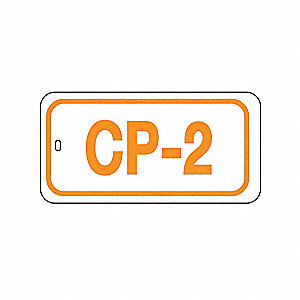 "Control Panel Lockout Isolation ID Tag, Polypropylene, CP-2, 1-1/2"" x 3"", 1 EA"