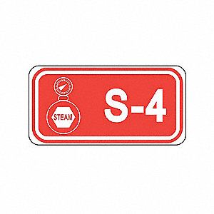 "Steam Lockout Isolation ID Tag, Polypropylene, S-4, 1-1/2"" x 3"", 1 EA"