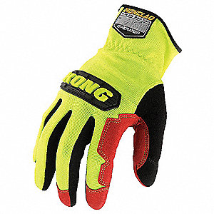 Mechanics Gloves,Synthetic Leather,L,PR