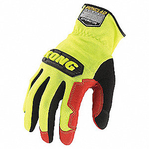 Mechanics Gloves,Synthetic Leather,XL,PR