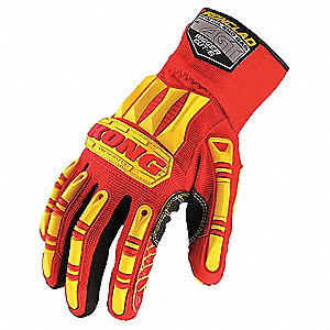 Rigger Cut 5 Glove, ANSI/ISEA Cut Level 4 Lining, Red, Yellow, M, PR 1