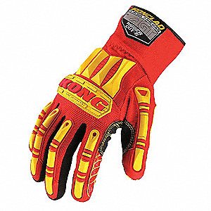 Rigger Cut 5 Glove, ANSI/ISEA Cut Level 4 Lining, Red, Yellow, L, PR 1