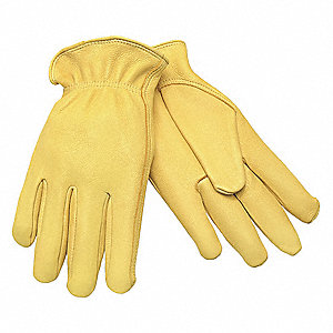 Leather Palm Gloves,Deerskin,L,PR