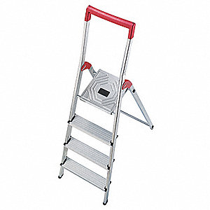 Platform Stepladder,2-49/64 ft,Al,330 lb