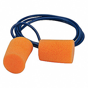 29dB Disposable Cylinder-Shape Ear Plugs; Corded, Orange, Universal