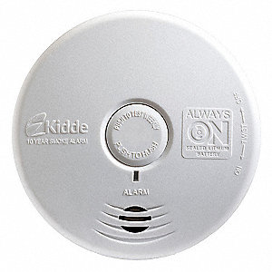 "5"" Smoke Alarm with 85dB @ 10 ft., Horn Audible Alert&#x3b; Sealed Lithium Ion"