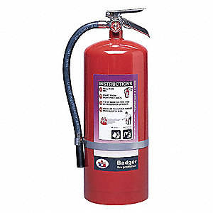 Dry Chemical Fire Extinguisher with 20 lb. Capacity and 28 sec. Discharge Time