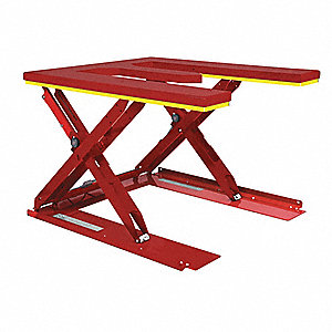 Stationary Electric Lift Scissor Lift Table, 2200 lb. Load Capacity, Lifting Height Max. 31-1/2""