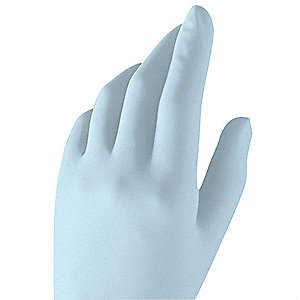 "9-1/2"" Powder Free Unlined Nitrile Disposable Gloves, Blue, Size  S, 200PK"