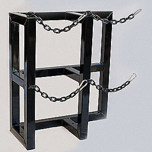 "28"" x 12"" x 30"" Gas Cylinder Rack, Black"