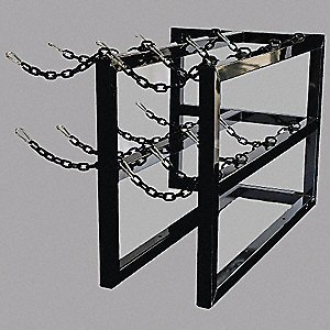 "28"" x 48"" x 30"" Gas Cylinder Rack, Black"