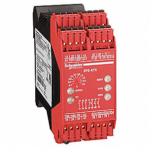 Safety Monitoring Relay,24VAC/DC,3NO