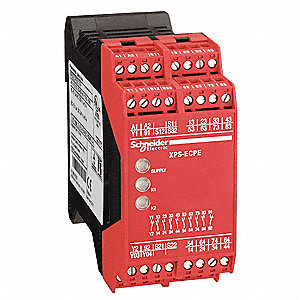 Safety Relay Extension Module, 8NO/1NC, Contact Load Rating: 1.5A, Input Voltage: 24VAC/DC