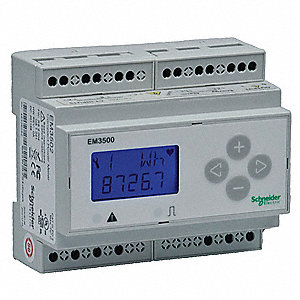 Power Meter, 90/600VAC/DC Input Voltage, 5 Amps, Accuracy: +/- 0.50%